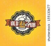 retro styled label of beer.... | Shutterstock .eps vector #155133677