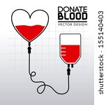 Donate Blood Over Gray...