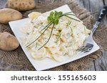 Heap Of Potato Salad With Some...