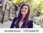 portrait of japanese business... | Shutterstock . vector #155166653