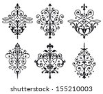 six old style vector decorations | Shutterstock .eps vector #155210003
