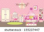 girls room interior | Shutterstock .eps vector #155237447