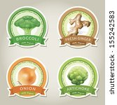 set of vector labels with... | Shutterstock .eps vector #155242583