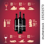 wine related vector icons   can ... | Shutterstock .eps vector #155252573