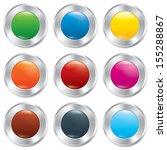 metallic buttons template set.... | Shutterstock .eps vector #155288867