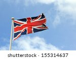 union jack flag  | Shutterstock . vector #155314637
