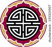 four blessings  lotus flower ...   Shutterstock .eps vector #155324507