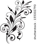 floral pattern with decorative...   Shutterstock .eps vector #155332793