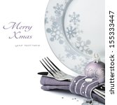 Christmas Menu Concept Isolate...