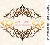invitation or wedding card with ... | Shutterstock .eps vector #155336267