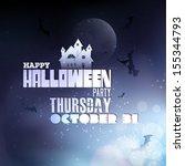 happy halloween typography  ... | Shutterstock .eps vector #155344793