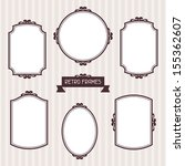 collection of frames in retro... | Shutterstock .eps vector #155362607