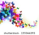 colorful flying butterflies.... | Shutterstock .eps vector #155366393