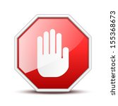 no entry sign. see also vector... | Shutterstock . vector #155368673
