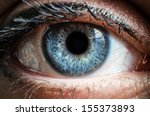 blue human eye extreme macro... | Shutterstock . vector #155373893