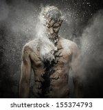 man with conceptual spiritual... | Shutterstock . vector #155374793