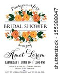 wedding invitation | Shutterstock .eps vector #155388047