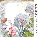 floral vintage background   Shutterstock . vector #155392277