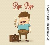 traveling character illustration | Shutterstock .eps vector #155392973