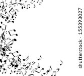 black music notes isolated on a ... | Shutterstock . vector #155393027