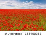 Stock photo red poppies on spring meadow 155400353