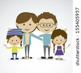 family together over gray... | Shutterstock .eps vector #155405957