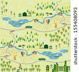 cartoon map seamless pattern | Shutterstock .eps vector #155408093