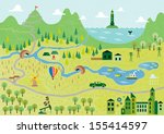cartoon map seamless pattern | Shutterstock .eps vector #155414597