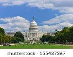 washington dc  us capitol... | Shutterstock . vector #155437367