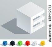 vector illustration of solid... | Shutterstock .eps vector #155440793