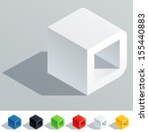 vector illustration of solid... | Shutterstock .eps vector #155440883