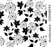 pattern with a flowers graphic...   Shutterstock .eps vector #155448593