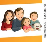 happy family | Shutterstock .eps vector #155458373