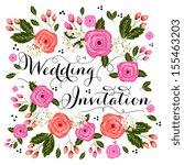 wedding invitation card | Shutterstock .eps vector #155463203