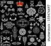 set of vintage design elements | Shutterstock .eps vector #155476697