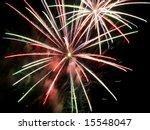 fireworks exploding overhead on ... | Shutterstock . vector #15548047