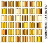 Vector Set Of Round Gold...