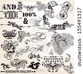 vector set of calligraphic... | Shutterstock .eps vector #155491517