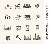 business and finance icons | Shutterstock .eps vector #155508473
