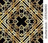art deco geometric pattern ... | Shutterstock .eps vector #155524043