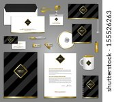 classic stationery template... | Shutterstock .eps vector #155526263