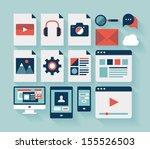 flat design modern vector... | Shutterstock .eps vector #155526503