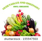 vegetable and greenery isolated ... | Shutterstock . vector #155547503