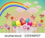 funny easter illustration.... | Shutterstock . vector #155548937