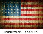dirty usa flag | Shutterstock . vector #155571827