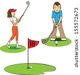 golfers | Shutterstock .eps vector #155572673