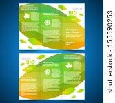 brochure folder leaflet bio eco ... | Shutterstock .eps vector #155590253