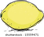 yellow lemon  illustration | Shutterstock .eps vector #15559471