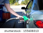 car refueling on a petrol... | Shutterstock . vector #155608313
