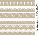 set of paper laces on the beige ... | Shutterstock .eps vector #155637653